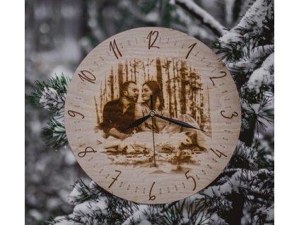 758 3 drevene nastenne hodiny s fotografiis