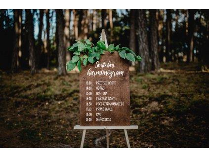 Svatební cedule - Harmonogram