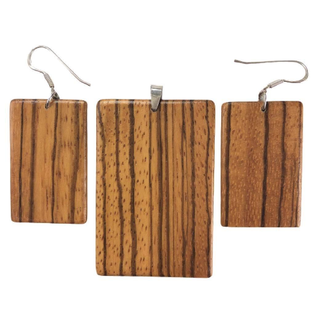 Dřevěná sada šperků Mendy