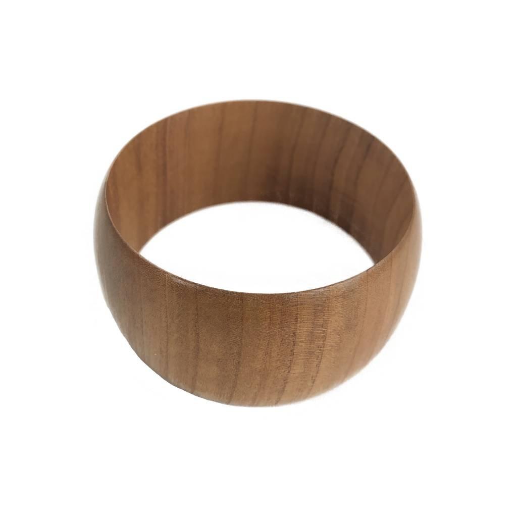 Dámský dřevěný náramek 3,5 cm Astrid, třešeň