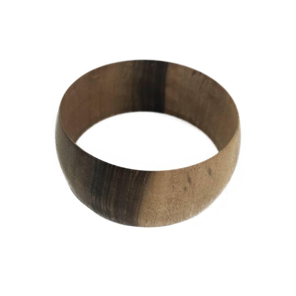 Dámský dřevěný náramek 3,2 cm Amanda, ořech