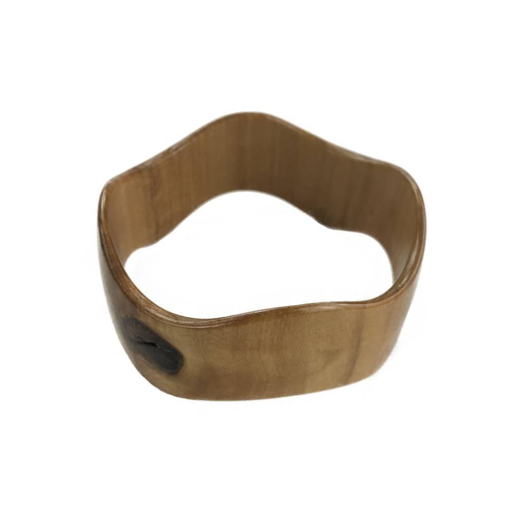 Dámský dřevěný náramek 2,5 cm Claver, lípa