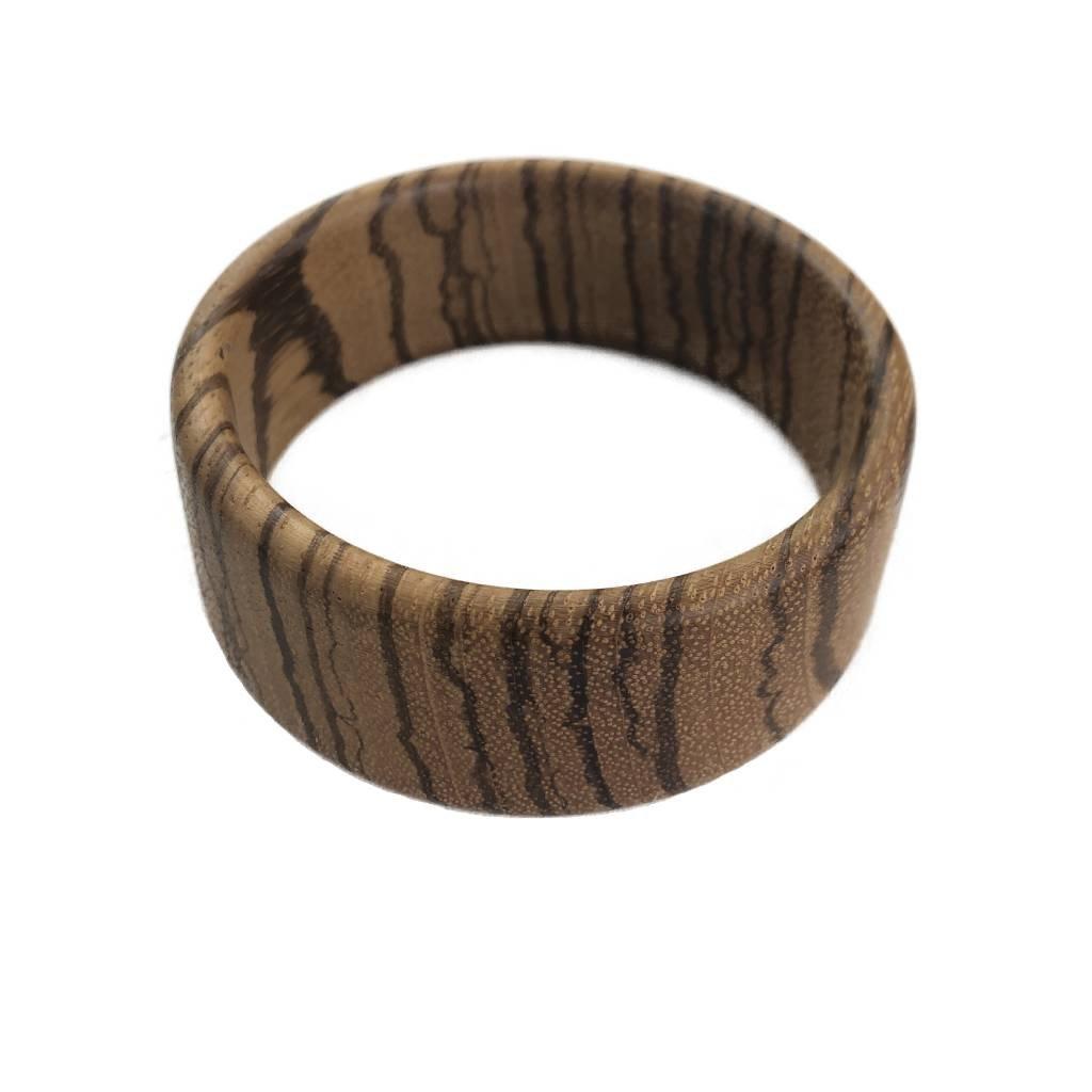 Dámský dřevěný náramek 3 cm Nora, zebrano