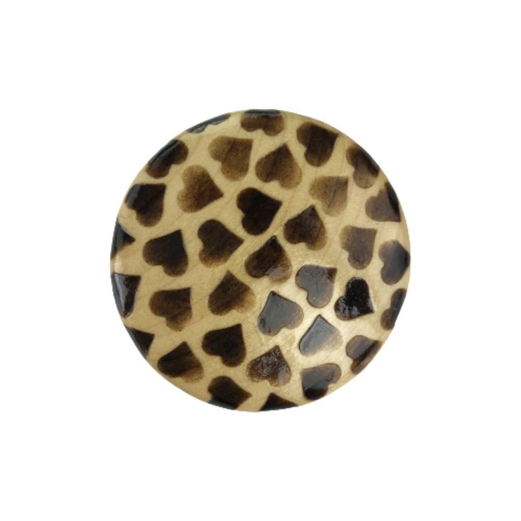 Dřevěná brož Butie černé
