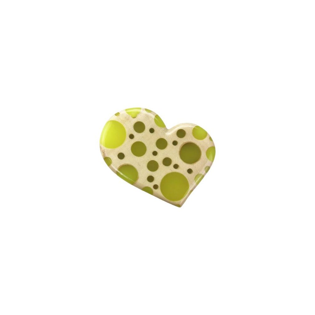 Dřevěný přívěšek na krk Heart, olivový