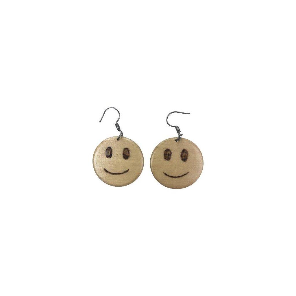 Dřevěné náušnice Smile