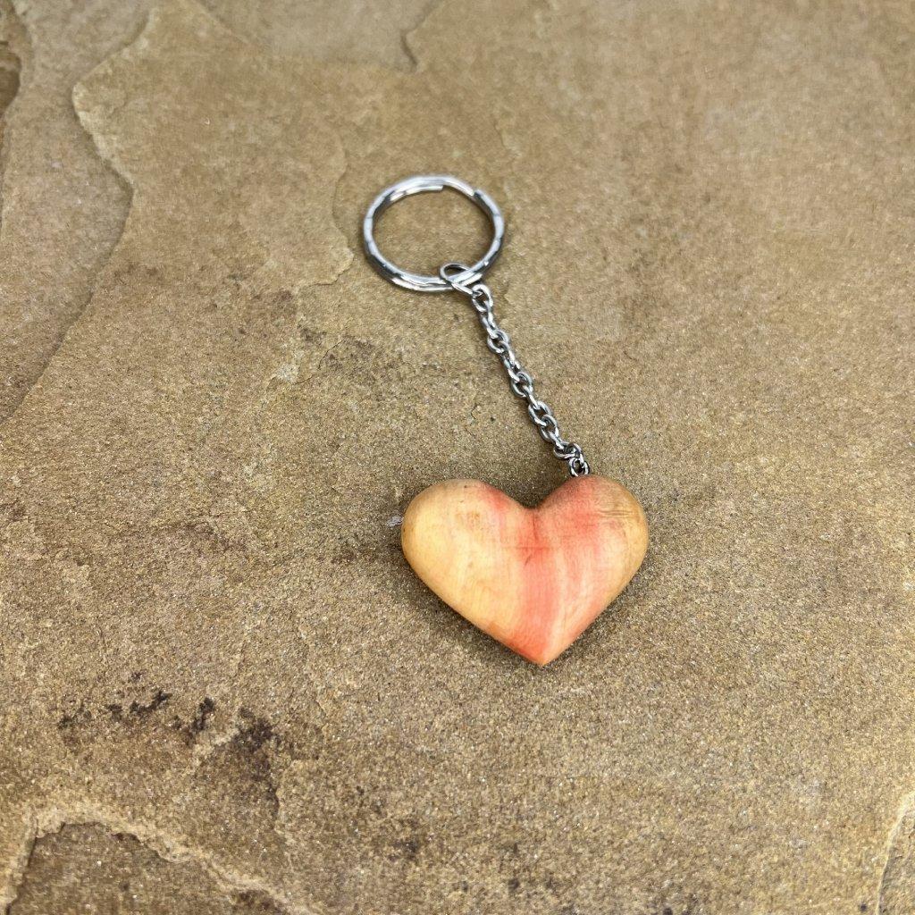 Dřevěná klíčenka Srdce