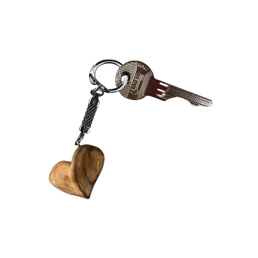 Dřevěná klíčenka Jade