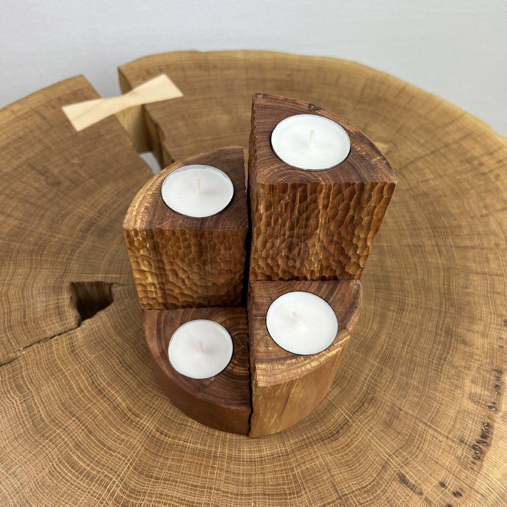 Dřevěný sada svícnů Royal