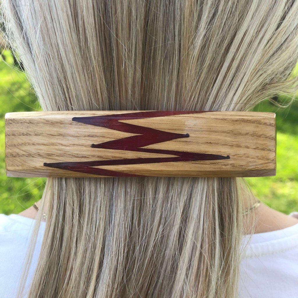 Dřevěná spona do vlasů Minerva