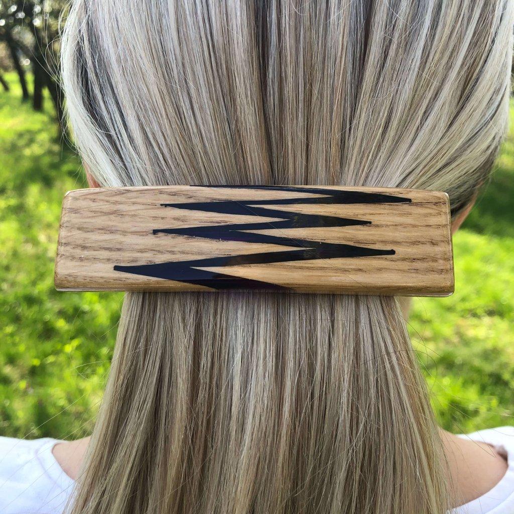 Dřevěná spona do vlasů Frances