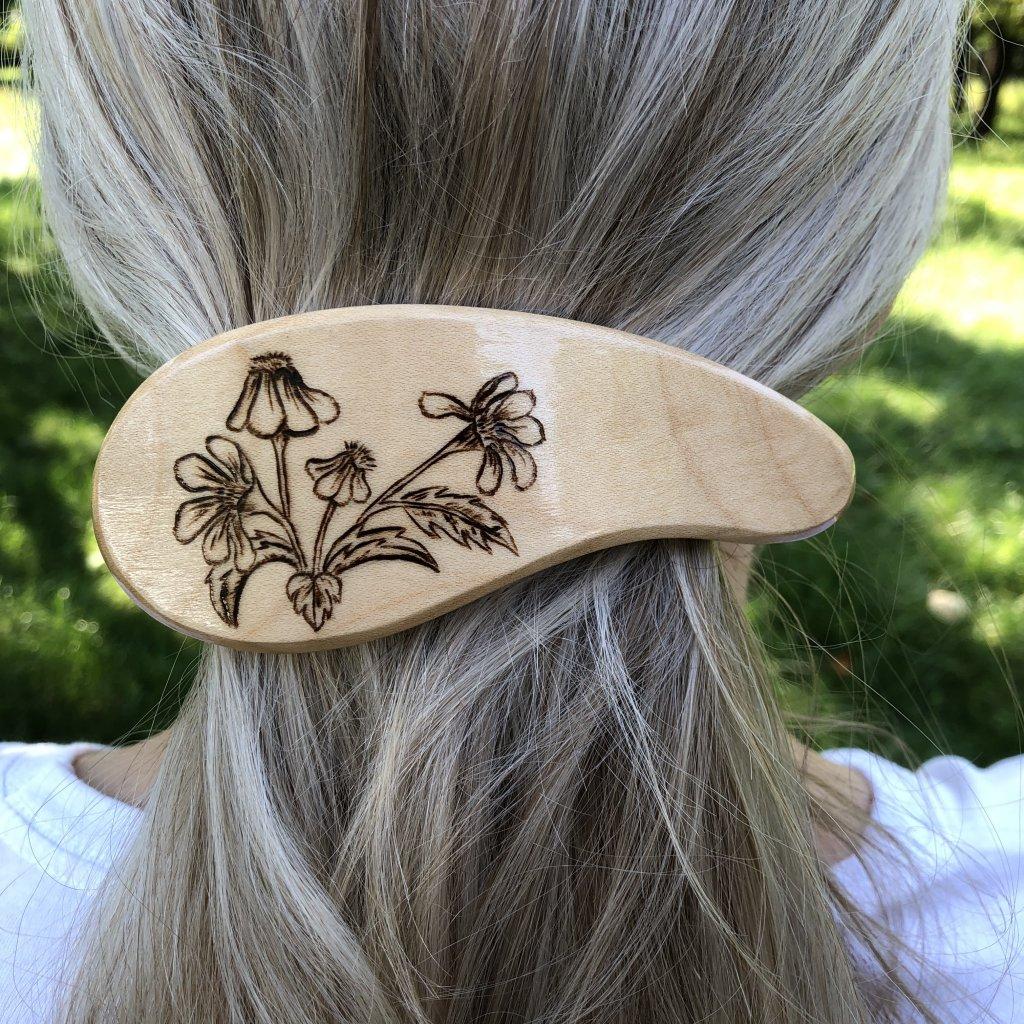Dřevěná spona do vlasů Marlow