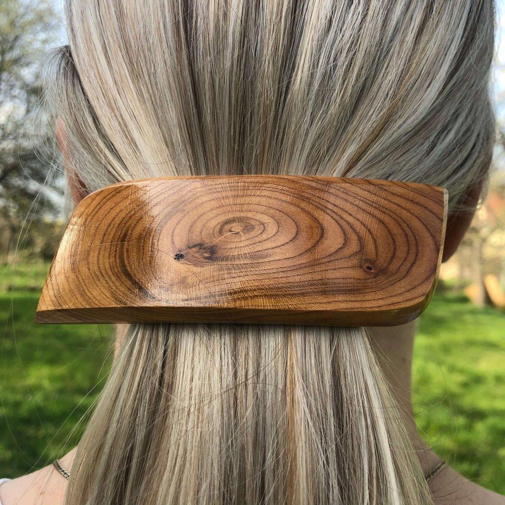 Dřevěná spona do vlasů Reverie