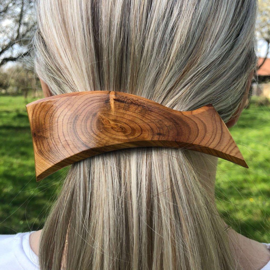Dřevěná spona do vlasů Veronica