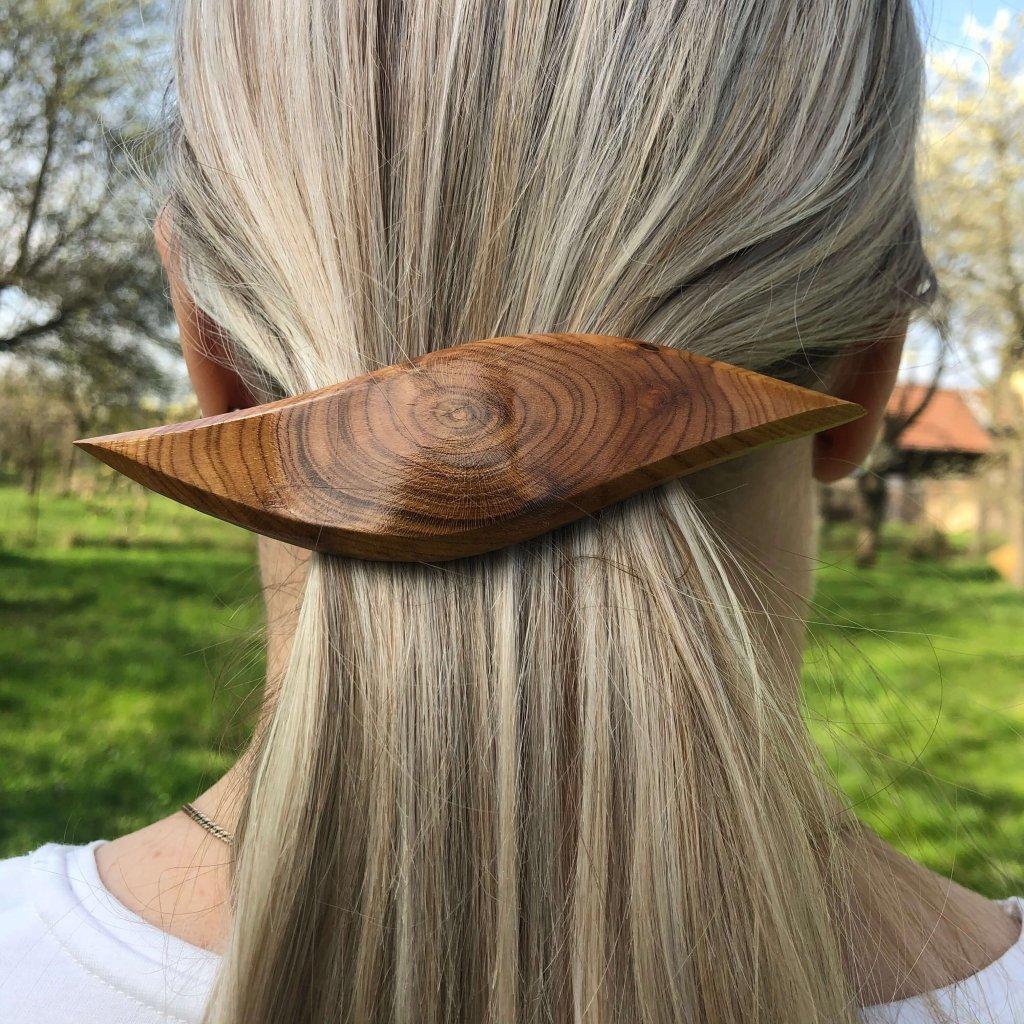 Dřevěná spona do vlasů Zahra