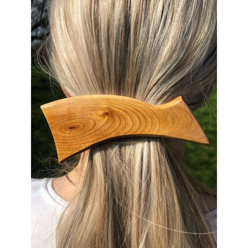 Dřevěná spona do vlasů Phoenix