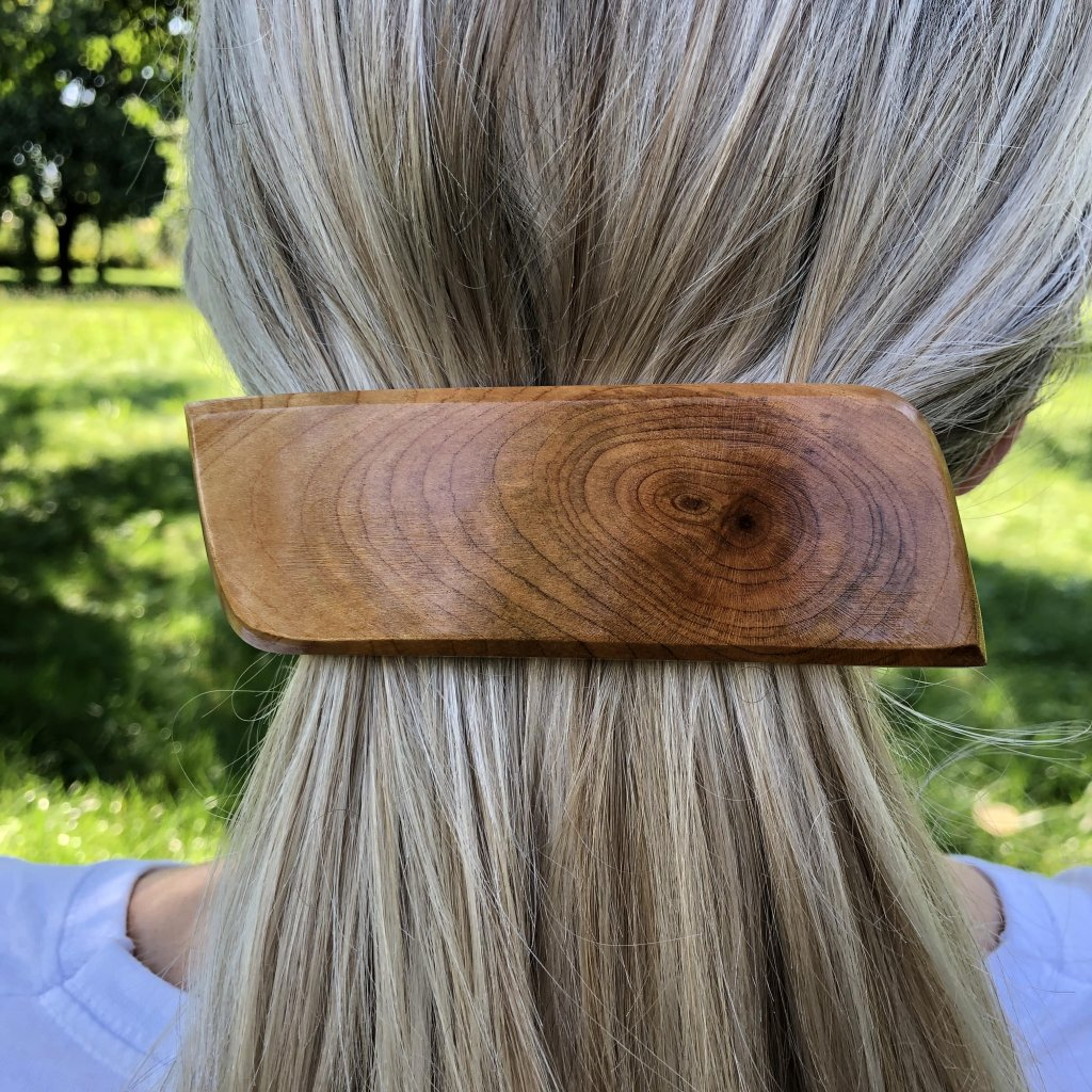 Dřevěná spona do vlasů Tommy