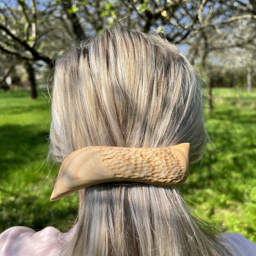 Dřevěná spona do vlasů Aurelia