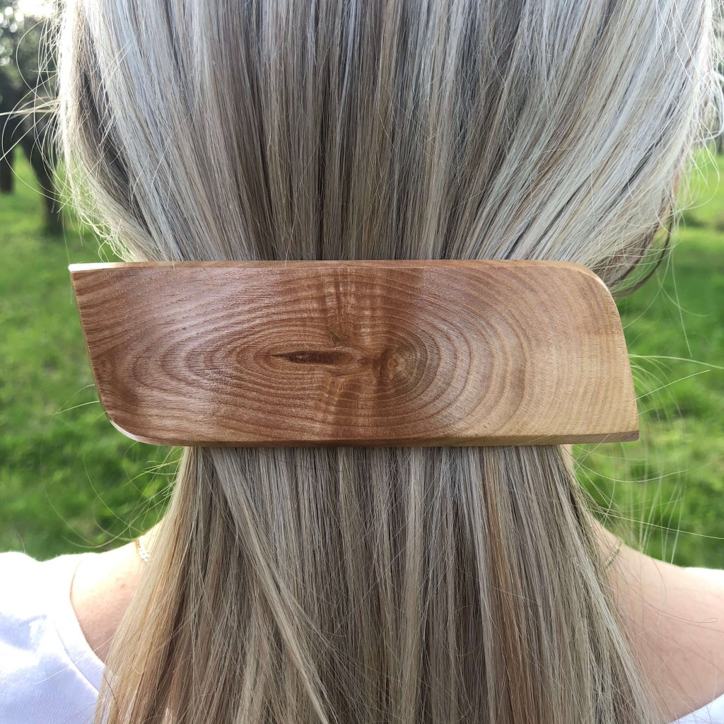 Dřevěná spona do vlasů Rose