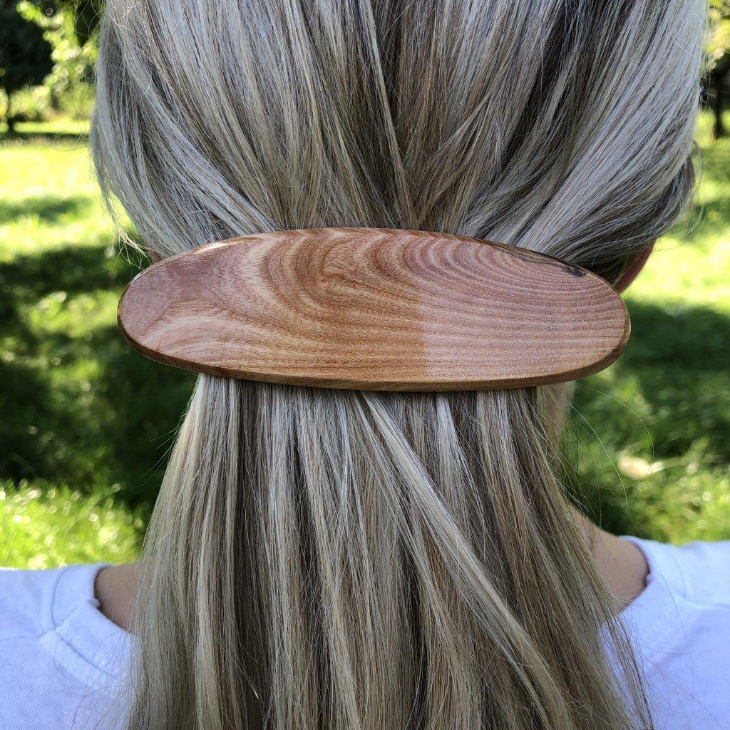 Dřevěná spona do vlasů Mia