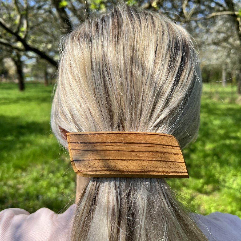 Dřevěná spona do vlasů Cassey