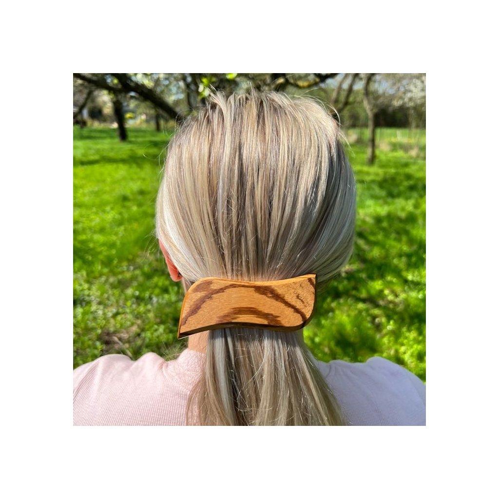 Dřevěná spona do vlasů Enrico