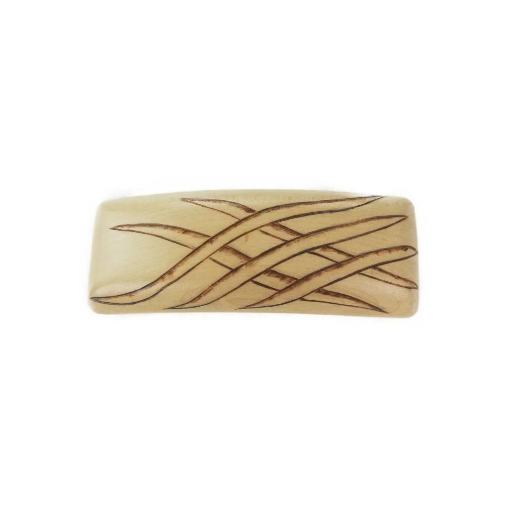 Dřevěná spona do vlasů Braun