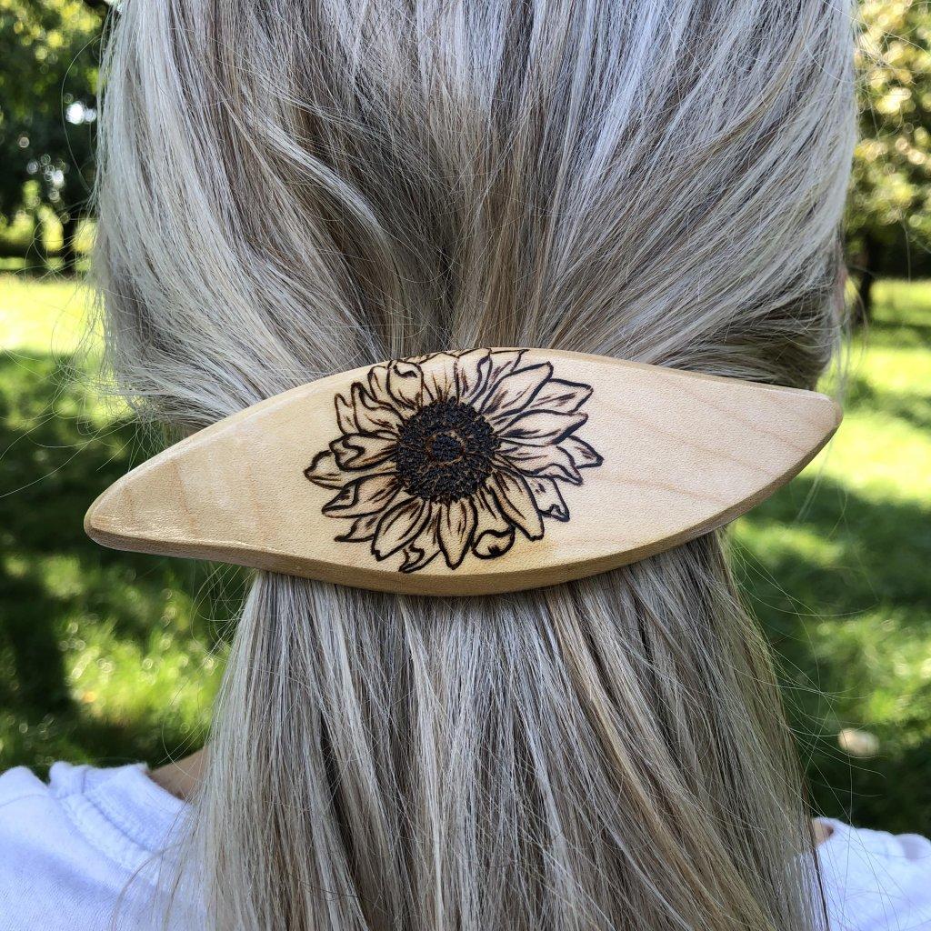 Dřevěná spona do vlasů Bojan