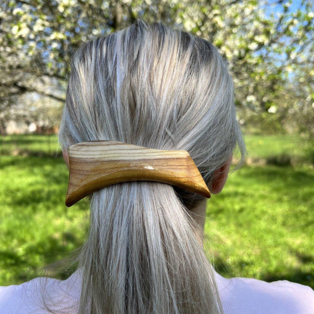Dřevěná spona do vlasů Cleio