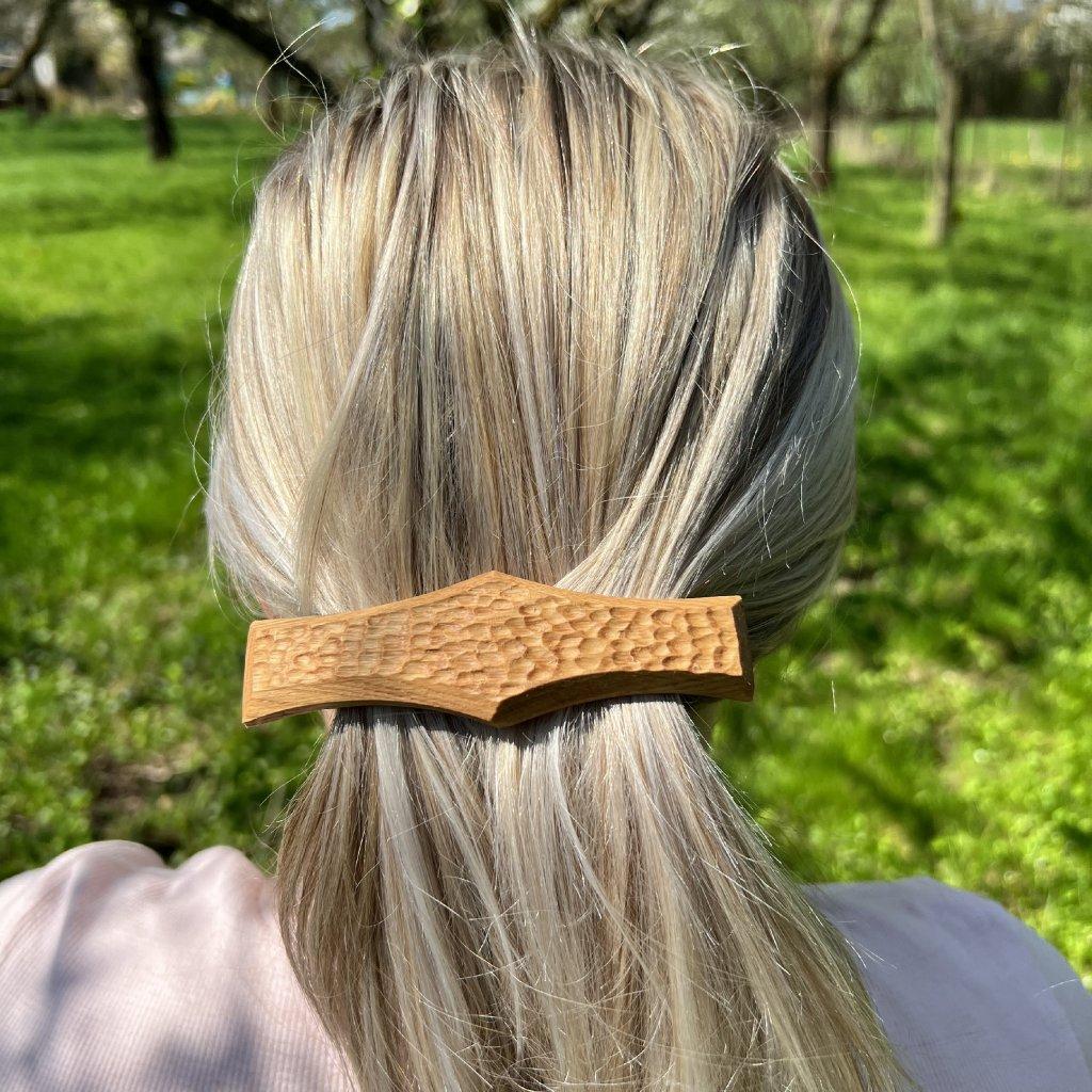 Dřevěná spona do vlasů Enzo