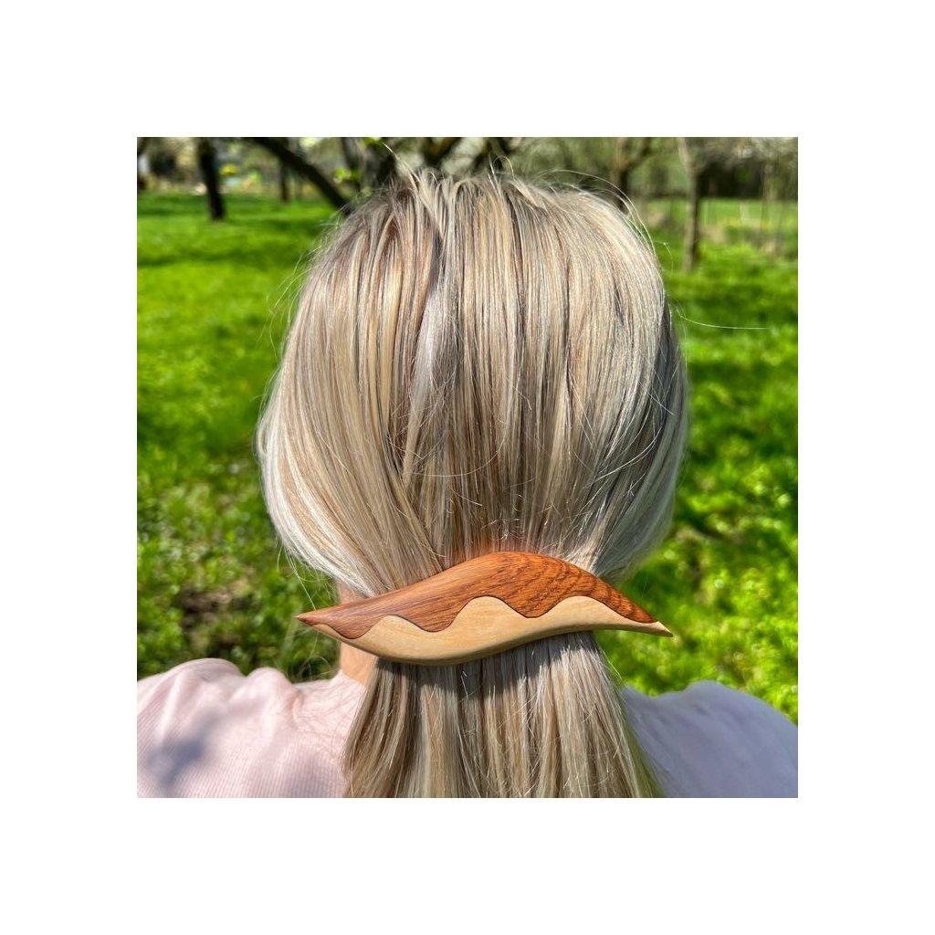 Dřevěná spona do vlasů Reachel