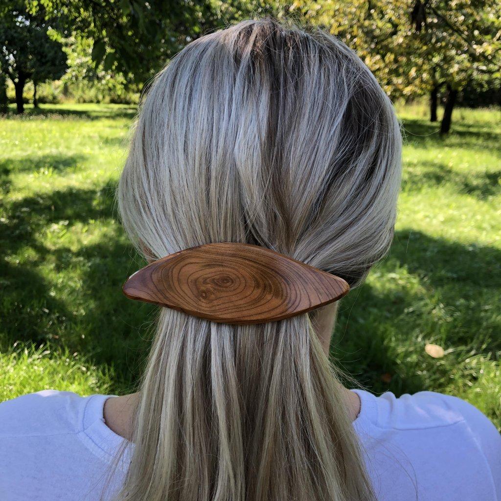 Dřevěná spona do vlasů Margot
