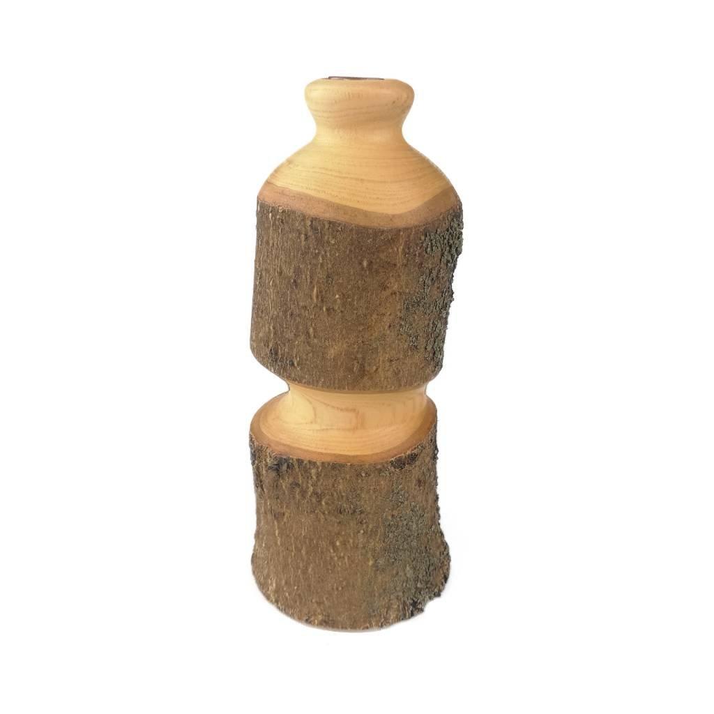 Dřevěná váza 14 cm Melanie