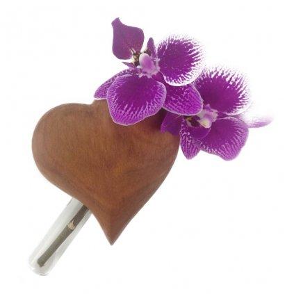 Dřevěná váza na magnet Judita