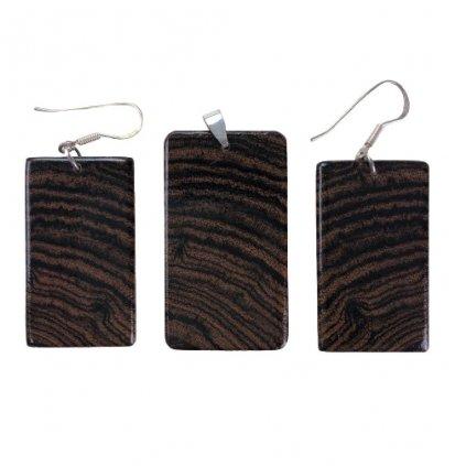 Dřevěná sada šperků Bocote
