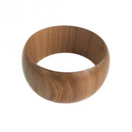 Dámský dřevěný náramek 3,8 cm Bonnie, třešeň