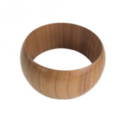 Dámský dřevěný náramek 3,7 cm Charlot, třešeň