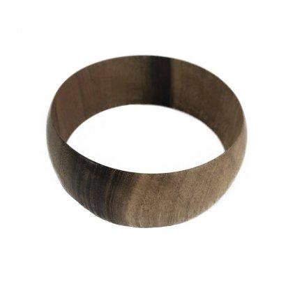 Dámský dřevěný náramek 3,1 cm Abelia, ořech