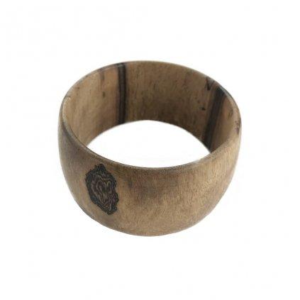 Dámský dřevěný náramek 3,5 cm Viktoria, ořech