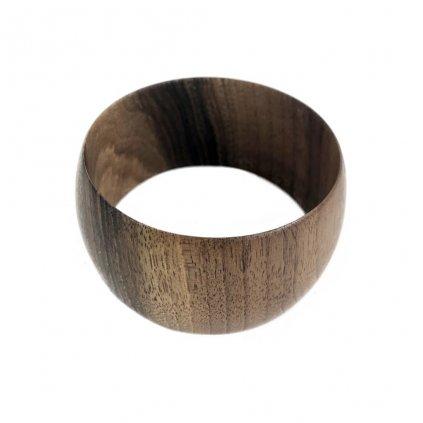 Dámský dřevěný náramek 3,7 cm Noela, ořech