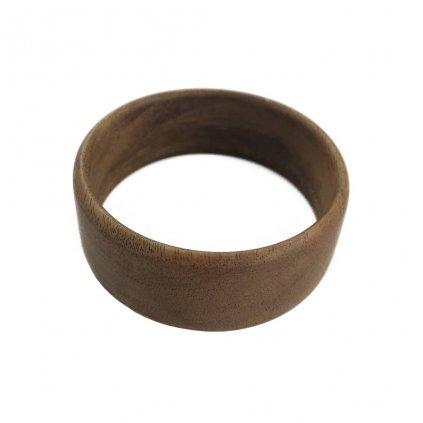 Dámský dřevěný náramek 2 cm Dulcia, ořech