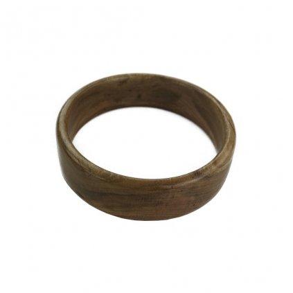 Dámský dřevěný náramek 2,1 cm Isabel, meruňka