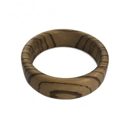 Dámský dřevěný náramek 2,3 cm Nikola, zebrano