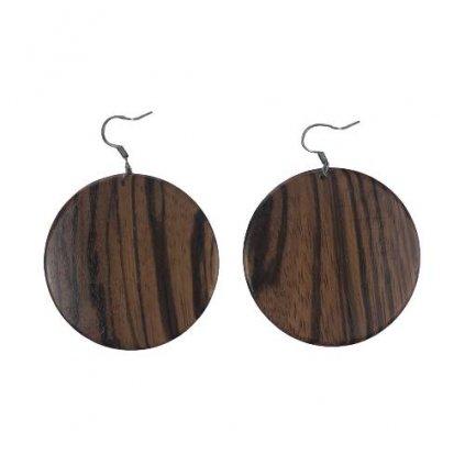 Dřevěné náušnice Zebrano