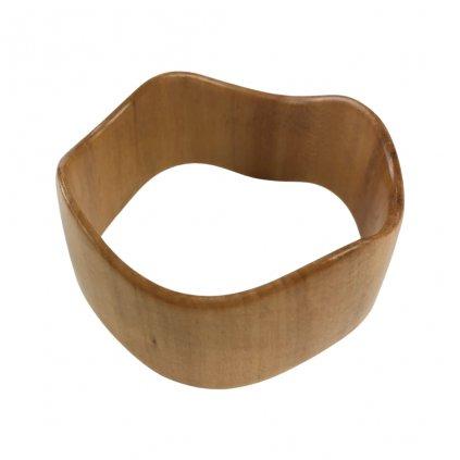 Dámský dřevěný náramek 2,5 cm Olivia , lípa