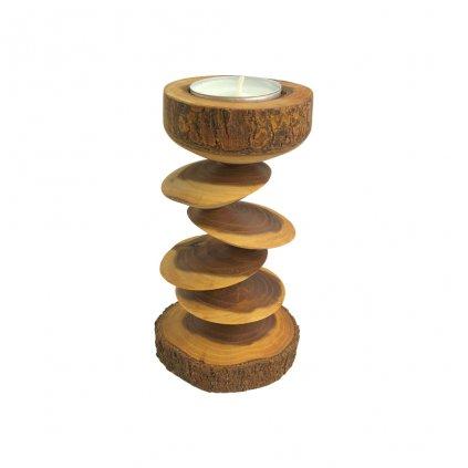Dřevěný svícen Alba