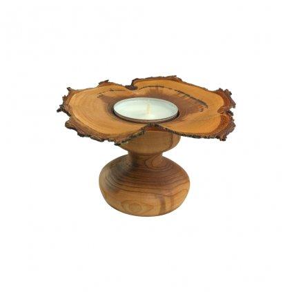 Dřevěný svícen Bouri