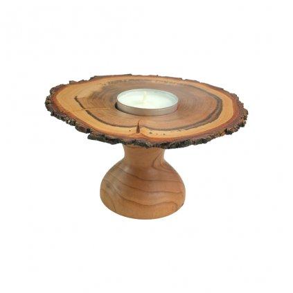 Dřevěný svícen Hříbek