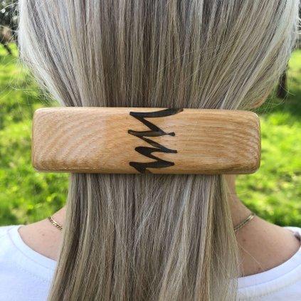Dřevěná spona do vlasů Keyne