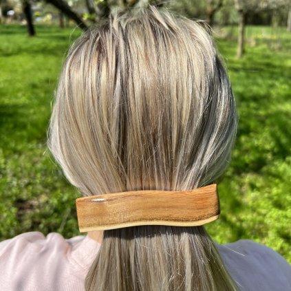 Dřevěná spona do vlasů Ravi